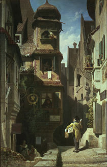 Spitzweg / Postman in Rosenthal /  c. 1859 by AKG  Images