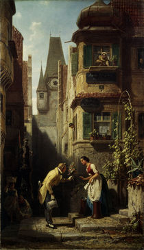 Spitzweg / The Eternal Bridegroom/c1855–58 by AKG  Images