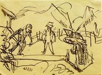 E.L.Kirchner, Kegelbahn auf der Stafelalp von AKG  Images