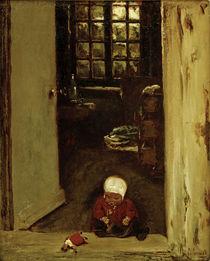 M.Liebermann, Spielendes Kind in Haustür by AKG  Images
