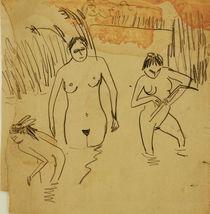 E.L.Kirchner / Bathers at Moritzb. Lake by AKG  Images