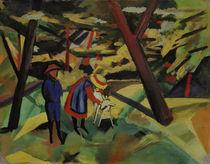August Macke / Children with Goat in the Forest by AKG  Images