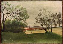 H.Rousseau, Landschaft mit Kirchturm von AKG  Images
