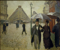 Gustave Caillebotte, Paris street in the rain by AKG  Images