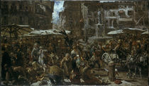 A. v. Menzel, Piazza d'Erbe zu Verona/1884 by AKG  Images