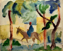 A.Macke / Man Riding on a Donkey by AKG  Images