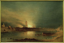 Frankfurt a. M., Dom nach Brand 1867 / Gem. v. Carl Morgenstern by AKG  Images