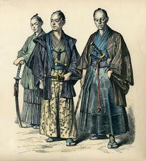 Japanische Männer / Farbholzstich von AKG  Images