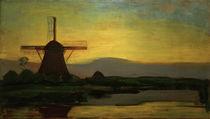 Piet Mondrian, Oostzijder Mühle am Abend von AKG  Images