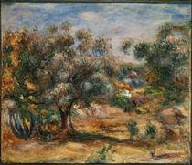 Auguste Renoir / Cagnes /  um 1909–10 von AKG  Images