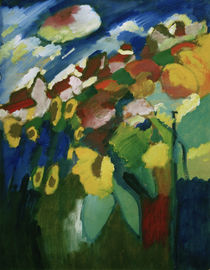 W.Kandinsky, Murnau – Garten II, 1910 von AKG  Images