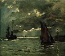 Claude Monet / Ships in Moonshine by AKG  Images