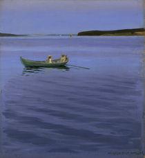 H. Slott-Møller, Bootspartie am idyllischen See von AKG  Images