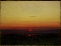 A.I.Kuindschi, Sonnenuntergang über der Steppe an einem Seeufer von AKG  Images