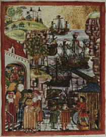 Hanseatic ships 1497 / Illumination by AKG  Images