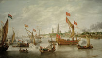 Friedensschluß Antwerpen 1648 / B..Peeters von AKG  Images
