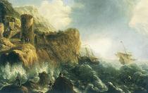 J.Peeters, Schiffbruch an felsiger Küste von AKG  Images