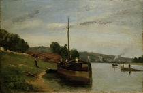 Camille Pissarro, Lastkähne auf der Seine von AKG  Images