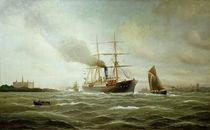 A.Jensen, Dampfschiff v. Schloss Kronborg von AKG  Images