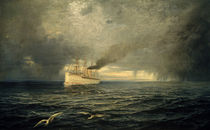 Steamship Emperor Wilhelm II on High Seas / T. Ohlsen / Painting, 1893 by AKG  Images