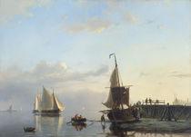 J.H.B.Koekkoek, Segelschiffe im Abendlicht by AKG  Images