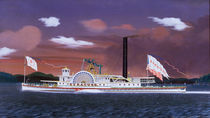The Steamship Syracuse / J. Bard / Painting,  1857 by AKG  Images