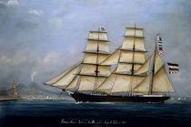 Segelschiff Sirene in Neapel / Gemälde von AKG  Images