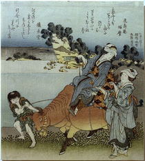 Hokusai, Blick auf Koshigoe / Farbholzschnitt by AKG  Images
