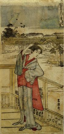 Hokusai, Der Kiefernbaum des Erfolgs / Farbholzschnitt by AKG  Images