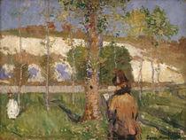 Marie Sisley am Ufer des Loing, Moret / Gemälde v. J.P.Russel von AKG  Images