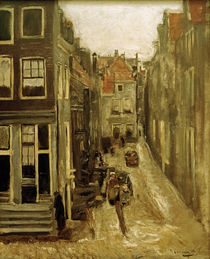 M.Liebermann, Judengasse in Amsterdam by AKG  Images
