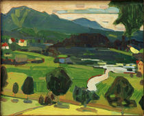 Murnau - View across Staffelsee / W. Kandinsky / Painting 1908 by AKG  Images