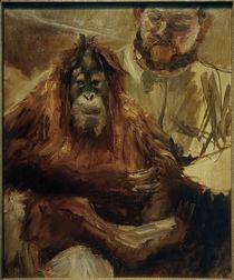 M. Slevogt, Der Orang Utan Seemann und sein Wärter von AKG  Images