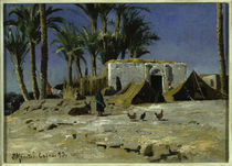 Peder Mørk Mønsted, Bedouin Camp in Cairo by AKG  Images