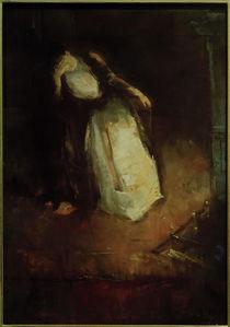 L.Ury, Frau am Kamin (Träumerei am Kamin) by AKG  Images