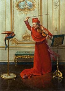 A.J.Penot, Kardinal mit Papagei von AKG  Images