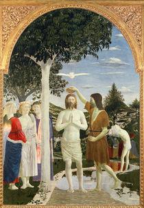 Baptism of Christ, 1450 by Piero della Francesca