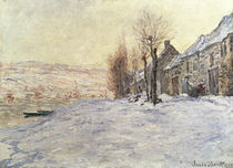 Lavacourt under Snow, c.1878-81 by Claude Monet