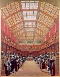 Interior of the House of Commons von Joseph Nash