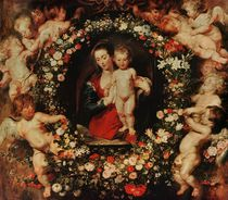 Virgin with a Garland of Flowers von Peter Paul Rubens
