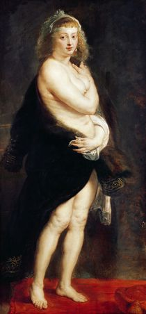Helena Fourment in a Fur Wrap von Peter Paul Rubens