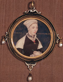 Miniature portrait of Jane Small von Hans Holbein the Younger