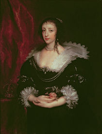 Queen Henrietta Maria , Queen consort of Charles I of England by Anthony van Dyck