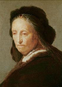 Portrait of an old Woman, c.1600-1700 von Rembrandt Harmenszoon van Rijn