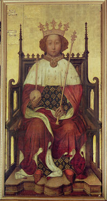 Portrait of Richard II 'The Westminster Portrait' von English School