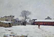 Under Snow: the farmyard at Marly-le-Roi von Alfred Sisley