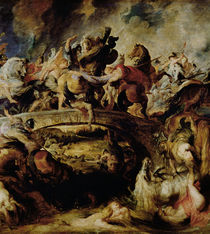 Battle of the Amazons and Greeks by Peter Paul Rubens