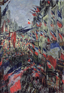 The Rue Saint-Denis, Celebration of June 30 by Claude Monet