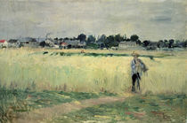 In the Wheatfield at Gennevilliers von Berthe Morisot