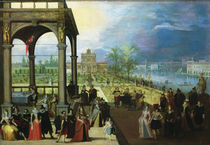 Feast in a palace by Louis de Caullery